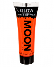Glow In The Dark Make-up Neon Orange