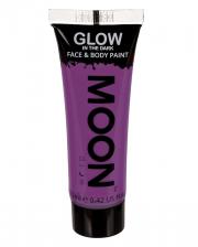Glow in the Dark Make-up Violett