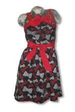 Rockabilly Kleid mit Schleifendruck