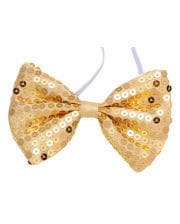 Golden Bow Tie Made Of Sequins