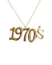 Shiny Gold 1970's Necklace
