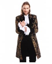 Gothic Aristocrat Men Coat Gold Black