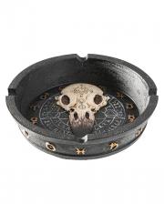 Gothic Aschenbecher mit Rabenschädel