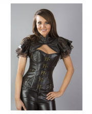 Steampunk Bolero leather look brown