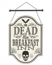 Gothic Dead & Breakfast Sign 43 X 30cm