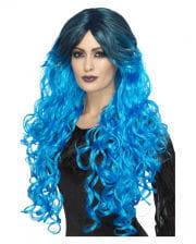 Gothic Glamour Damenperücke blau