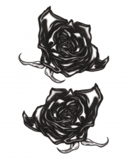 Gothic Klebetattoo Black Roses