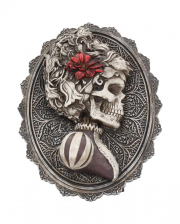 Gothic Skelett Dame Day of the Dead Wandbild