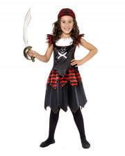 Gothic Piratin Kinderkostüm