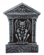Grabstein mit Gargoyle & Säulen 52cm