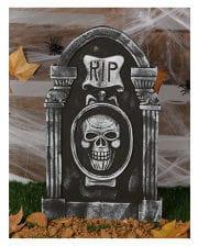 Gravestone RIP And Skull