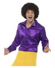 60s Disco Hemd violett