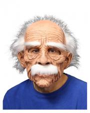 Großvater Maske mit weißen Haaren & Schnäuzer