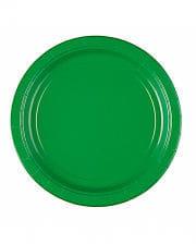 Paper plate green 8 pcs.