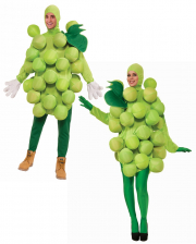 Green Grape Costume With Balloons