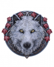 Guardian of the Fall Herbstwolf Wandbild 29cm