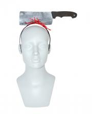 Haarreif mit blutigem Schlachterbeil