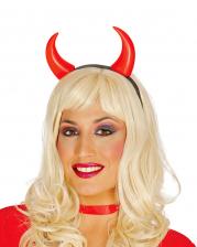 Haarreif mit roten Teufelshörnern