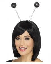Hair Hoop With Black Pompons