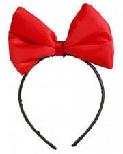 Headband with red bow