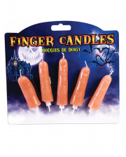 Halloween Finger Candles 5 Pcs.