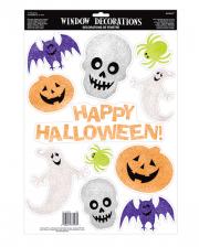 11-tlg. Halloween Glitter Sticker Set