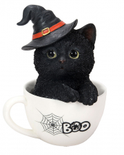 Halloween Kitten In Teacup 16cm