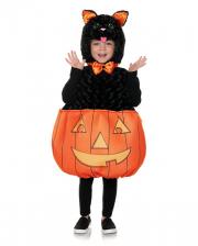Halloween Cat With Pumpkin Toddler Costume