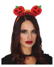Halloween Pumpkin Headband With LED