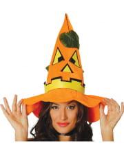 Halloween Kürbis Hut mit Blätter