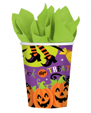 Halloween Paper Cup With Witch 8 Pc.