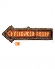 Halloween Party Hinweisschild 56 x 17 cm