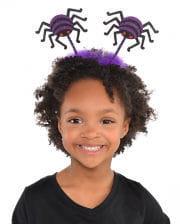 Halloween Spinnen Haarreif Violett