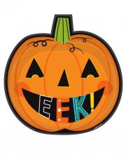 Halloween Plate In Pumpkin Shape 8 Pcs.