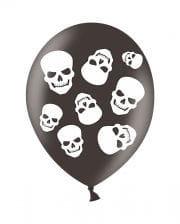 Halloween Skull Luftballons 6 St.