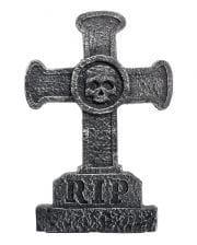 Grabstein Kreuz mit Totenkopf