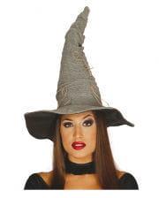 Halloween Hexenhut grau