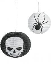 Halloween Skull Spider Lampions 6-Pack