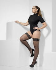 Fishnet stockings black XL