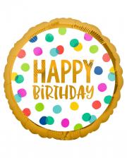 Happy Birthday Dots Party Foil Balloon