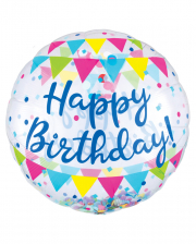 Happy Birthday Jumbo Konfetti Folienballon
