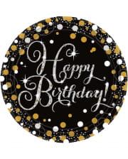 Happy Birthday Pappteller Glamour 8 St.