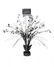 Happy Birthday Table Decoration Black / Silver