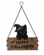 Happy Halloween Kitten With Sign