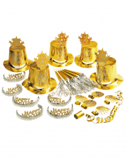 Happy New Year Party Set Gold 21 Pcs.