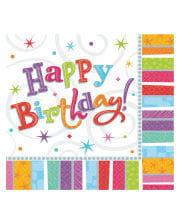 Happy Birthday napkins stars 16 St.
