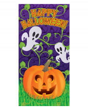 Happy Halloween Door Mask Ghosts & Pumpkin