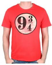 Harry Potter - Gleis 9 3/4 T-Shirt Rot