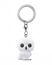 Harry Potter Hedwig Flocked Funko Pocket POP! Keychain