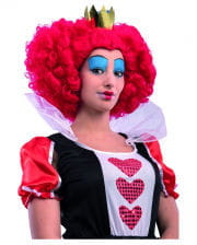 Heart queen wig with crown